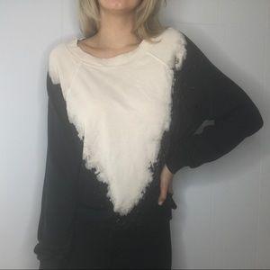 Wildfox | Bleached Sweatshirt Top Shirt M
